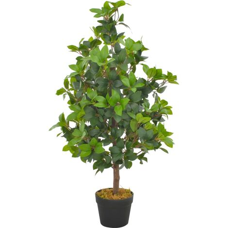 Artificial Plant Laurel Tree with Pot Green 90 cm