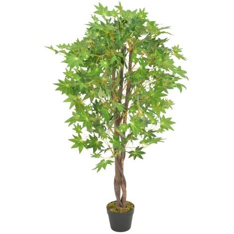 Artificial Plant Maple Tree with Pot Green 120 cm