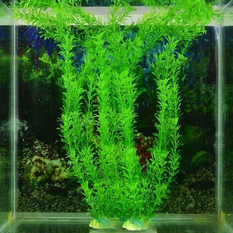 Artificial plastic plant for aquarium green 30 cm, 4pcs, plant