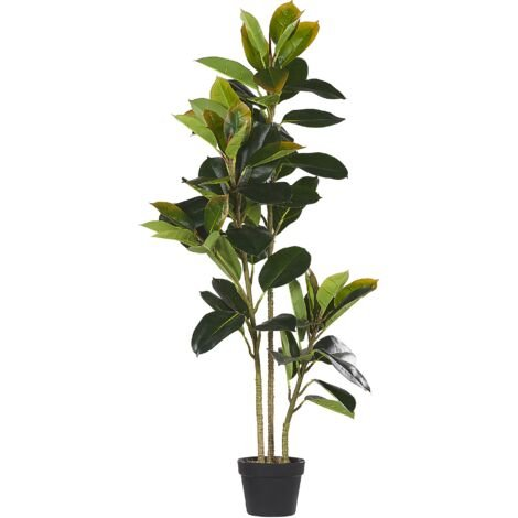 Artificial Potted Plant for Indoor Use Modern Plastic Decoration with Black Pot Ficus