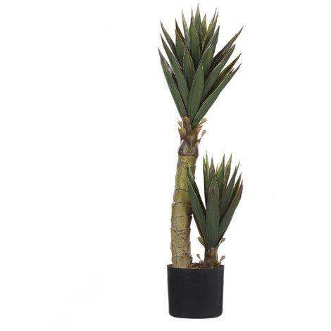 Artificial Potted Plant Indoor Plastic Decoration 90cm with Black Pot Aloe Vera