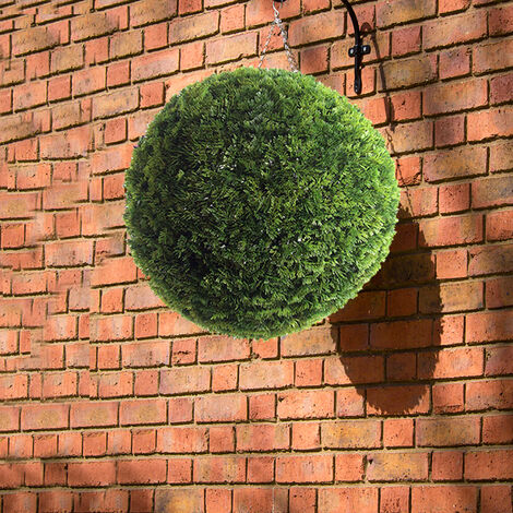 Artificial Purple Boxwood Topiary Balls Hanging Outdoor Garden