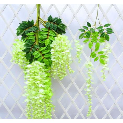 Artificial Silk Wisteria Fake Flower Vine Garland Wedding Hanging Decoration