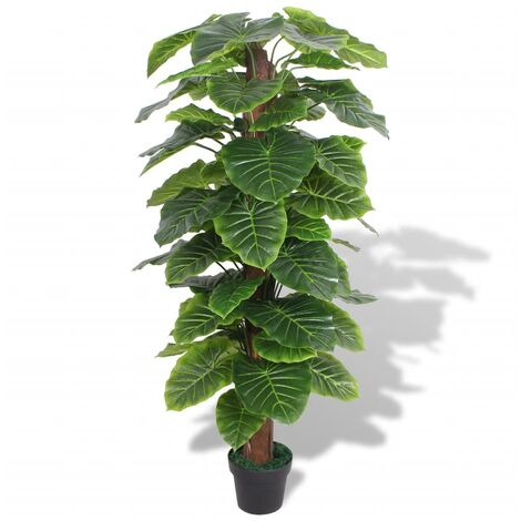 Artificial Taro Plant with Pot 145 cm Green