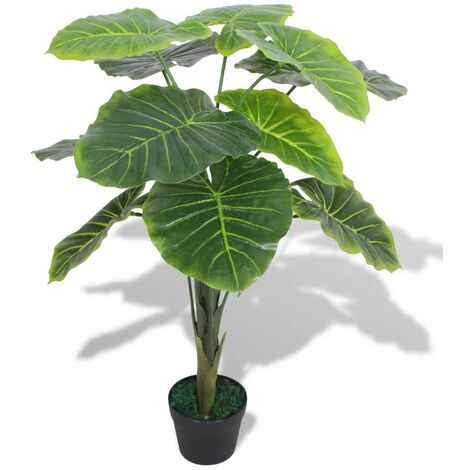 Artificial Taro Plant with Pot 70 cm Green