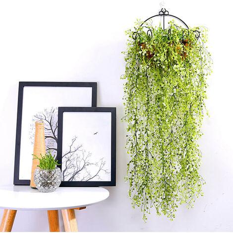 Artificial Trailing Ivy Flower Vine Leaf Garland Plants, White