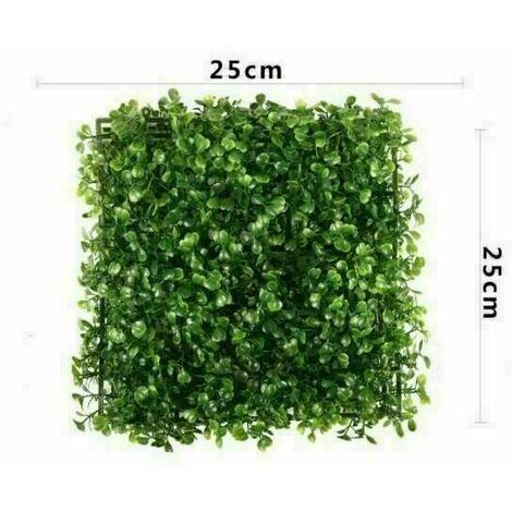 Artificiel Lierre Plantes Feuille Vigne Suspendue Feuilles Mural Simulation Mur Végétal Intérieur Simulation Mur Végétal Vert Plante Mur Décoration Maison Fond, Petit morceau d'herbe de Milan