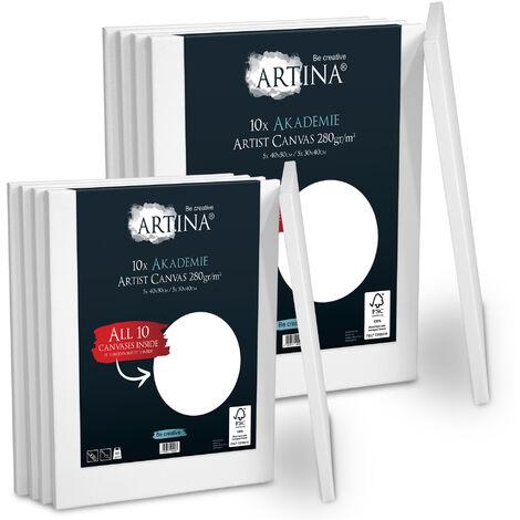 Artina châssis entoilé certifié FSC - Akademie – set de 10 5x 40x50 cm & 5x 30x40 cm