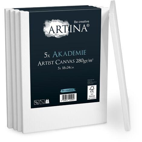 Artina châssis entoilé certifié FSC - Akademie – set de 5 18x24cm