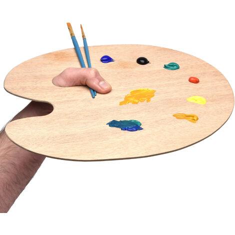 Artina - Palette Ronde en Bois pour mélange de Peinture - 25x30cm