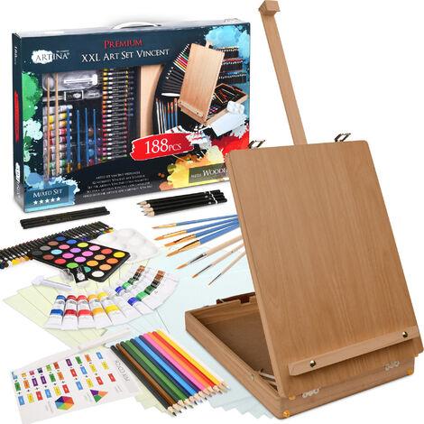 Artina set de pintura para adultos y niños de 188 piezas Vincent