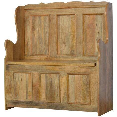 """main image of """"Artisan Furniture Solid Mango Wood - Hallway Monk Bench"""""""