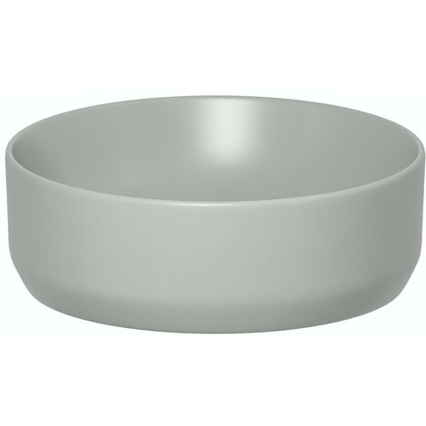 Artist Collection Gorgeous Grey countertop round basin 355mm with waste