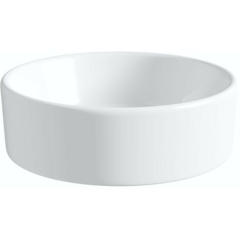 Artist Collection Wowee White countertop round basin 385mm with waste