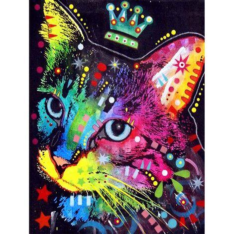 ARTISTORE Cat DIY 5D Diamond Painting Kit Embroidery Cross Craft Stitch Kit Mohoo