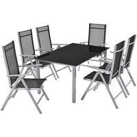 ArtLife Aluminium Gartengarnitur Mailand mit Tisch und Stühlen 7-teilig oder 9-teilig
