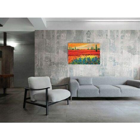 Artopweb EC22080 Madjid Toskana 3 Panneau de Décoration Bois Multicolore 90 x 60 x 1,8 cm