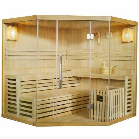 Artsauna Traditionelle Saunakabine Finnische Sauna Espoo 200 x 200 cm 8 kW für 5 Personen