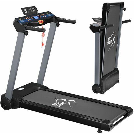 ArtSport Laufband Speedrunner 2500 klappbar Fitnessgerät Trainingsgerät inkl. 12 Programmen, LCD-Display, Pad-Halterung & Safety-Key