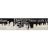 A.S. Création 935671 - Bordo decorativo Boys and Girls 4, New York City, colore: Grigio / Metallo / Nero