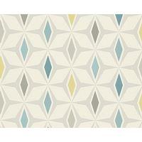 A.S Creation Diamond Geometric Blue/ Grey Wallpaper