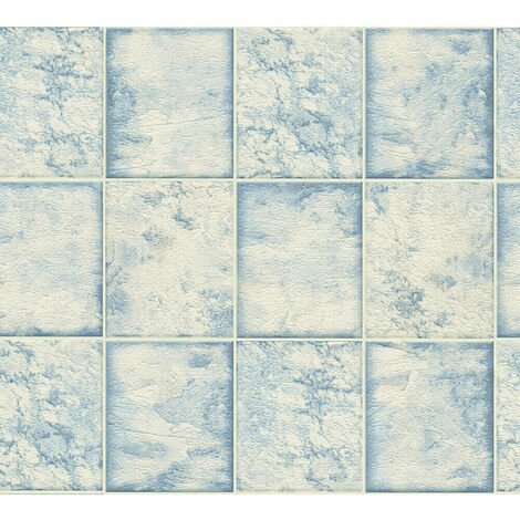 AS Creation Marble Tile Blue 34279-1
