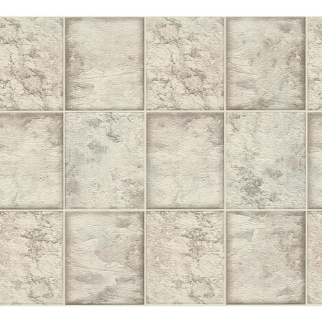 AS Creation Marble Tile Pearl 34279-2