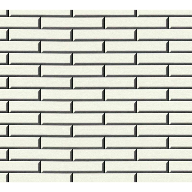 Image of 3D Effect Stone Wall Apron Brick Wallpaper Tile Vinyl White Black Embossed