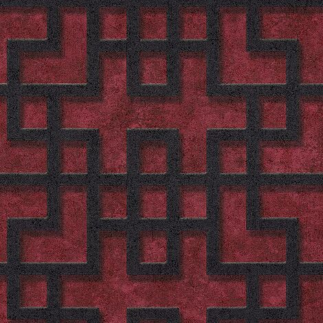 A.S Creation Red Grip Black Industrial Metallic Wallpaper Textured Vinyl