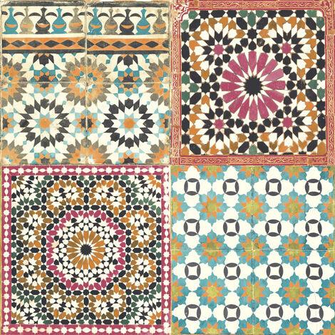 DUTCH WALLCOVERINGS Tapete Marokkanische Fliesen Mehrfarbig