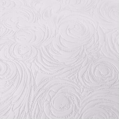 AS Creation Wallpaper White Blown Vinyl 2613-11
