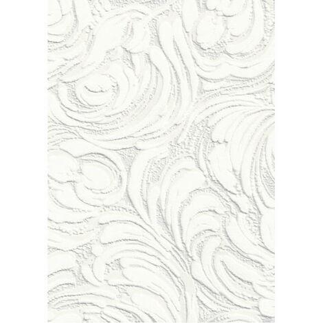 AS Creation Wallpaper White Blown Vinyl 2613-11