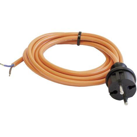 Kabel Anschlußkabel Gummikabel H07RN-F 2x1,5 mit Stecker für Maschinen 3 m