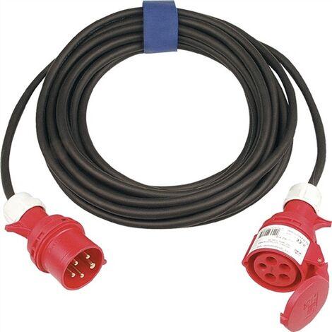 AS Schwabe Rallonge électrique CEE - H07RN-F 5G1,5 - IP44 - 10 m