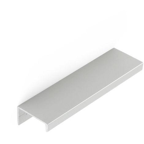 Asa de aluminio con acabado anodizado mate, dimensiones:116x18x32mm y entrepuntos:96mm - talla