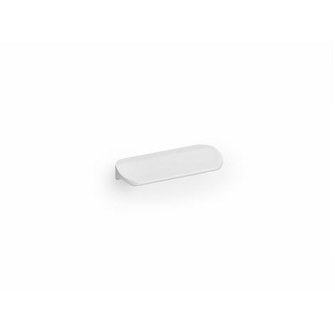 Asa de estilo contemporáneo decorativo, fabricada en aluminio, con acabado blanco y 32 mm de distancia entre puntos.