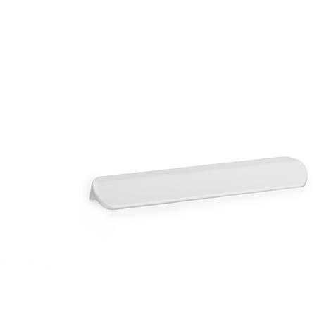 Asa de estilo contemporáneo decorativo, fabricada en aluminio, con acabado blanco y 64 mm de distancia entre puntos.