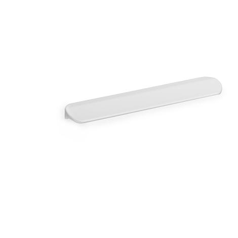 Asa de estilo contemporáneo decorativo, fabricada en aluminio, con acabado blanco y 96 mm de distancia entre puntos.