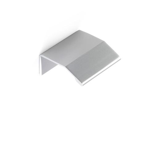 Asa de estilo contemporáneo, fabricada en aluminio, con acabado anodizado mate y 16 mm de distancia entre puntos.