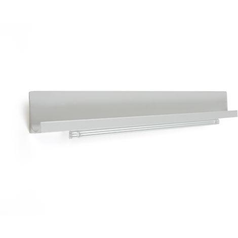 Asa de estilo moderno, fabricada en aluminio, con acabado anodizado mate y 897 mm de distancia entre puntos.