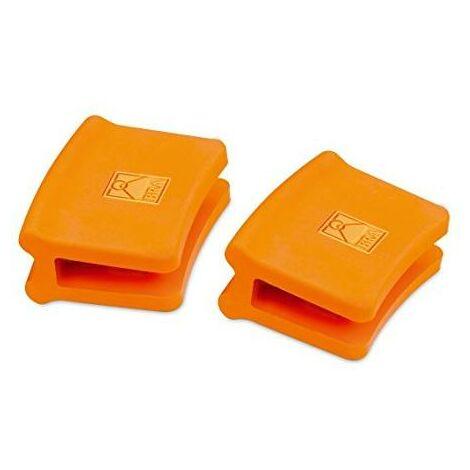 Asas silicona paellera 2 unidades, Bra Efficient Orange