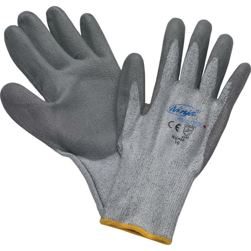 Asatex Aktiengesellschaft - Gant de protection contre les coupures Ninja Taille 10 gris PE (HPPE) / PA / fibres de verre / EL EN 388 12 Paar