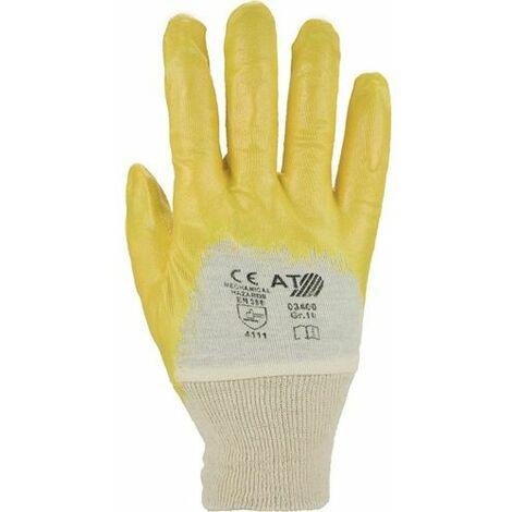 ASATEX Handschuhe Lippe Gr.7 gelb Nitrilbeschichtung EN 388 Kat.II auf SB-Karte ASATEX