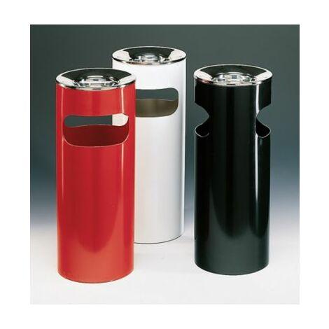 Ascher-Abfallsammler-Kombination   Volumen 25 Liter   Schwarz   Certeo