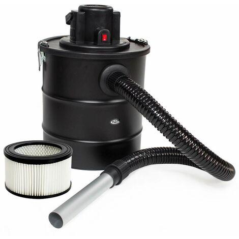Aschesauger 1200W mit Metallsaugschlauch, Filter und 1 Ersatzfilter - Kaminsauger, Aschestaubsauger, Rußsauger - schwarz