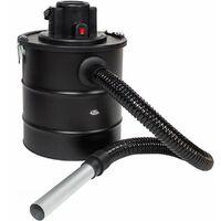 Aschesauger 1200W mit Metallsaugschlauch und Filter - Kaminsauger, Aschestaubsauger, Rußsauger - schwarz