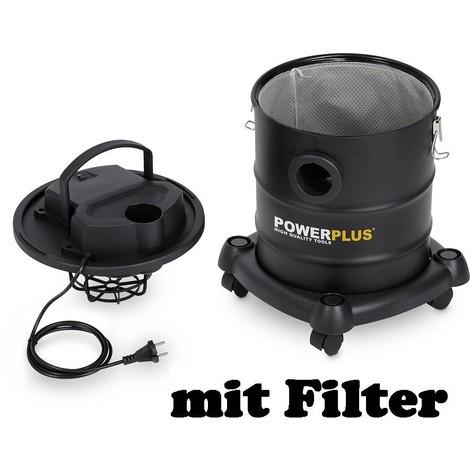 Aschesauger Kaminsauger Ascheschlucker + 2 Filter 20Liter mit Filter Aludüse 1200 Watt