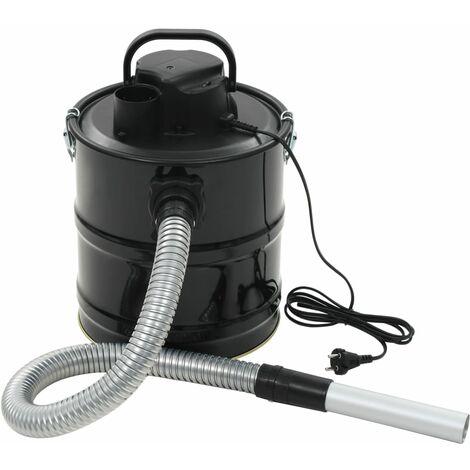Aschesauger mit HEPA-Filter 1000 W 20 L Schwarz