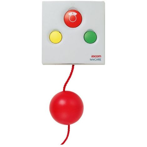 Ascom Telecare NPTX2-BFKAA2 - Unit pull-cord Radio white, 3 LEDs and 3 buttons for sick or nurse call