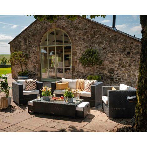 Ascot 2 Seater Rattan Garden Sofa Set (various colours)